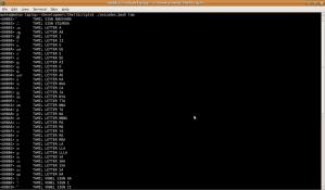 unicodes.bash script output